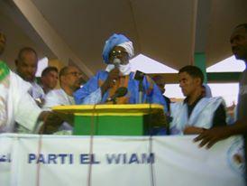 Boydiel ould Houmeid, president du parti EL WIAM